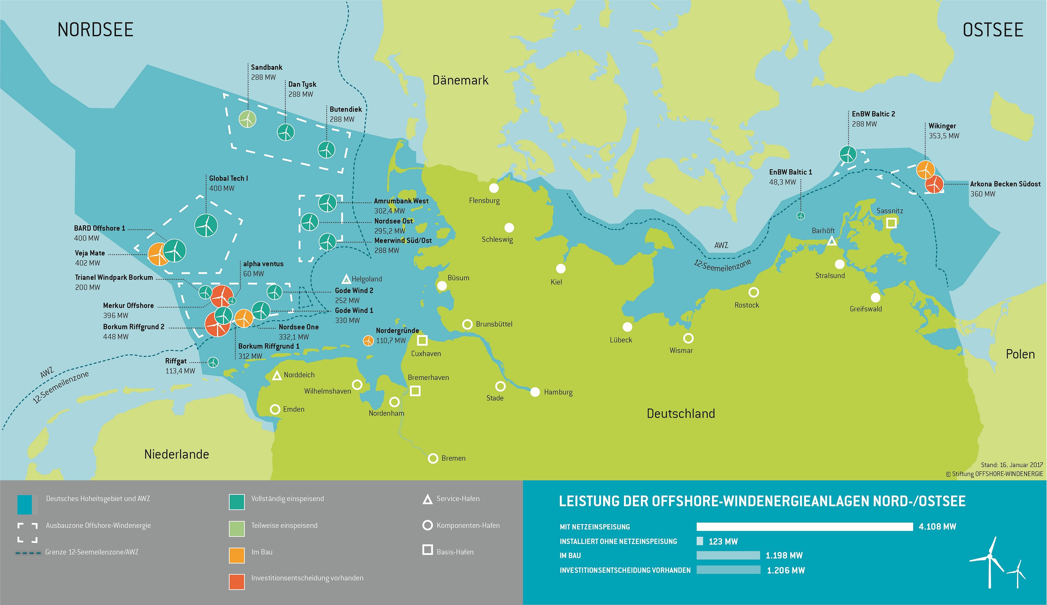 Karte des Ausbaustandes