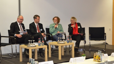 Fachtagung 2014 - Andreas Wagner, Johann Saathoff (SPD),  Dr. Julia Verlinden (Bündnis 90/Die Grüne), Eva Bulling - Schröter (Die LINKE.) [v.l.]