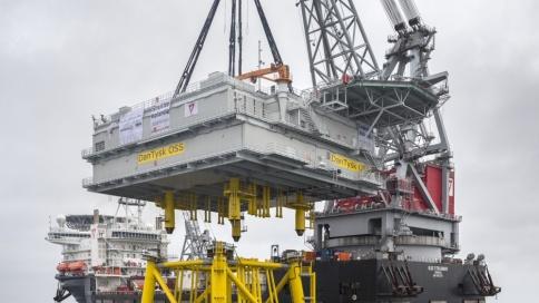DanTysk: Errichtung Umspannstation OSS auf Jacketfundamentkonstruktion