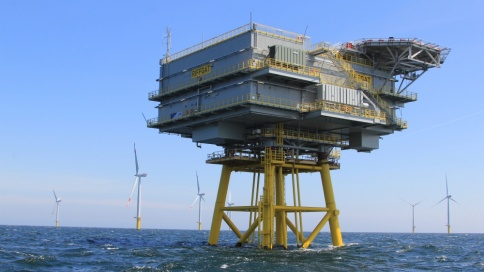 Windenergieanlage EWE Offshore Windpark Borkum Riffgat