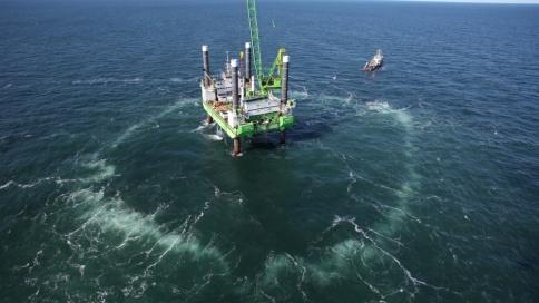 Trianel Windparks Borkum: Blasenschleier