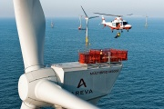 A Multibird M5000 at offshore windpark alpha ventus