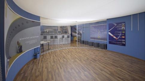 Die Rotunde ist der zentrale Ort für Gespräche und gesonderte Präsentationen.