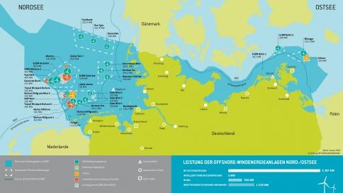 Übersicht Offshore-Windparks Deutschland