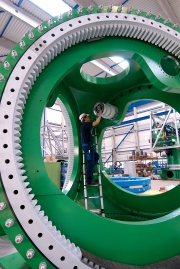 The rotor of a M5000 is produced in the facility of AREVA Multibird in Bermerhaven.